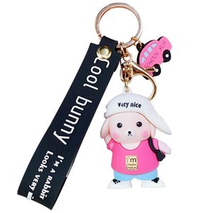 Hot Sale Cartoon Pig Keychain Cute Pig Keyring Outdoor Car Key Ring Mini Lovely Key Chain Bag Backpack Pendant Party Gift Custom