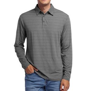 Manga larga de los hombres con camiseta Polo de solapa Paul Menswear