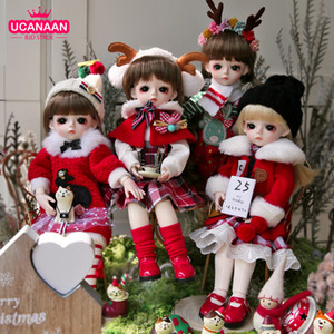 Ucanaan bjd boneca 30cm 1/6 bola articulada bonecas com roupas completas roupas sapatos peruca maquiagem meninas brinquedos crianças natal xmas presentes lj201031