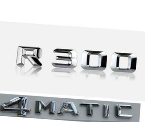 """Chrome """"R 300 4 Matic"""" Tronco auto Lettere Posteriori parole Distintivo Emblem Lettera Adesivo Decalcomania per Mercedes Benz RS CLASS R300 SL450"""