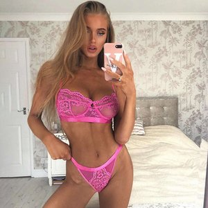 15 Colors Womens Bra and Panties Sets Lace Sexy Lingeries Two Piece Suit Multicolor See-through Women Underwear Wholesale