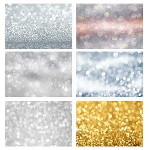 Greyish White Bokeh Circle Star Glitters Photographic Background Vinyl Backdrops 사진 스튜디오 사진 스튜디오 Fundo Fotografia1