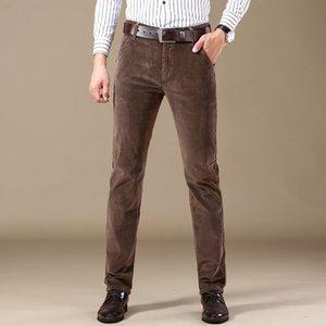 Cabidos Calças Inverno Marca de roupas masculinas SHAN BAO veludo de algodão confortável retas magros calças casuais Outono / Business 201118