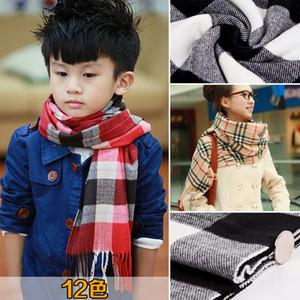Venta caliente otoño invierno cálido niños bufanda niños bufanda hogar privado clásico británico rejilla imitación cachemira bufanda Hwe3236