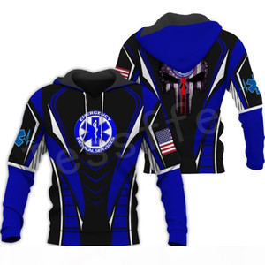 Emergency Technician EMT EMS Paramedic NewFashion Unisex Pullover 3DPrint Sweatshirt Hoodies zipper Jacket s-6