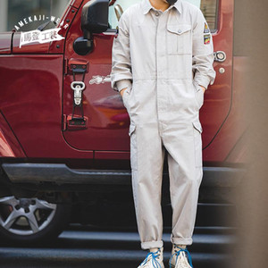 Maden Vintage Harajuka Men Pagliaccetti Pagliaccetti Vestiti da carico tute Solid Joggers Casual Men Pants Button Playsuits Plussuits Plus Size