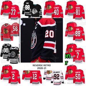 Chicago Blackhawks 2021 Reverse Retro Patrick Kane Lehner Jonathan Toews 65 Shaw 77 Kirby Dach Duncan Keith Gustafsson Debrincat Jersey