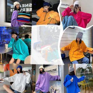 2020 autumn long sleeve T Shirt Women Tee Shirt Loose Solid Basic T Women Casual O neck Hipster Tshirt Top oversize