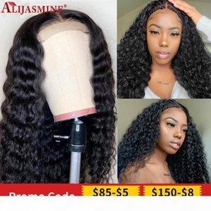 Stirnband Perücke lockige menschliche Haarperücken für Frauen Super Easy Hälfte Wig Brazilian Remy Hair Stirnband Sieht echte natürliche Perücken aus