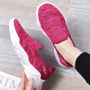 Kadın Flats Yuvarlak Ayak Casual Yürüyüşü Spor Ayakkabı Mesh Işık Nefes Spor Sneakers sepet femme şartsız
