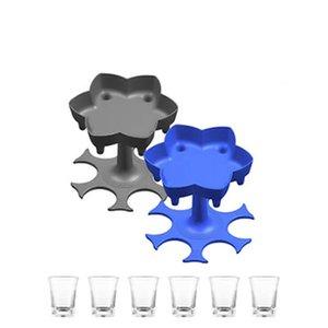 6 Shot Cam Dağıtıcı Tutucu Şarap Cam Raf Soğutucu Bira İçecek Dağıtıcı Atış Buddys Parti Hediyeler Bar Aksesuarları IIA931