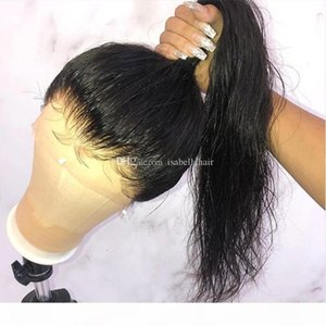 Pre Plucked Lace Front Ponytail Wigs With Baby Hair 9A Silky Straight Brazilian Virgin Full Lace Human Hair Wigs For Black Women