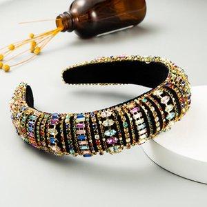 Nuevo temperamento de venta caliente All-Match Super Flash Color Rhinestone Headband Baroque Palace Style Diadema Accesorios para el cabello