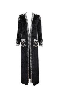 Top Quality 3 colors Fashion Women Coat Black Grey Brown Beading Long Faux suede Coat Hot Sale 2020