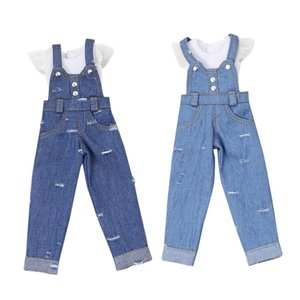 DBS blyth boneca gelada licca corpo azul jeans lace roupas brancas armpsuits brinquedo 201203