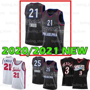2020 2021 Nouvelle Philadelphie76ersJoel 21 Embiid Ben 25 Simmons Allen 3 Iverson Al Julius 6 erving Horford 20 21 Maillots de basketball