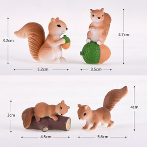 56mm X 40mm - 45mm X 30mm, 1 Piece PVC Ornaments Decorations Squirrel Animal Desktop Grey And Yellow Cute Little Hamster