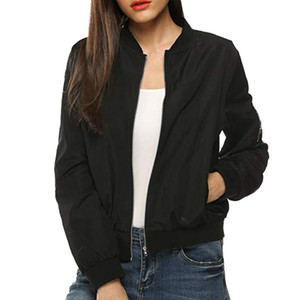 Women's Jackets 2021 Fashion Womens Jacket Classic Quilted Short Bomber Coat Solid Female Clothes Streetwear Coats For Women