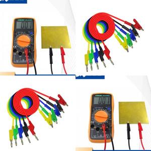 Pure Color Plug Multimètre Multimètre peut être connecté Accueil Gadget Pratique Gadget Banana Plug to Alligator Clip Test Line 4 6LQ J2