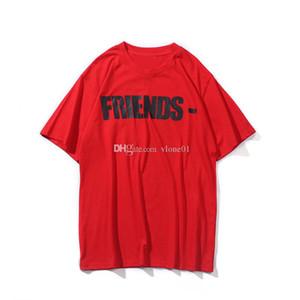 2019 Nuevos amigos Skateboard T Shirt Hombres Mujeres Blanco Hip Hop Hop Homada Corta Estilista T Shirt Tshirt