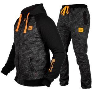 Running Sports Tracksuits Men Sportswear Suit Sweatshirt Sweatpants Male Gym Fitness Training Hoodie Pants Sets Jogging Clothing