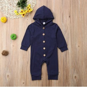 Newborn Baby Girls Boys Clothes Autumn Winter Baby Romper Long Sleeve Cotton Hoodies Jumpsuit Baby Clothing Outfits 0-24M