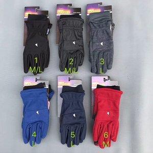 Unisex Winter Luvas Sost Fleece Quente Touch Screen Glove Letra Design Luvas à prova de vento Moda Telefinger Luvas Ao Ar Livre Glove Equitação 2021