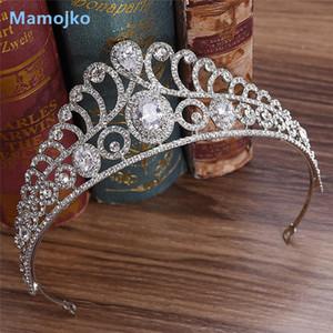 Mamojko Cubic Zirkon Braut Tiara Zirkonia Crown CZ Diadema Braut Krone Hochzeit Haarschmuck Bijoux Cheveux Tiaras Crowns