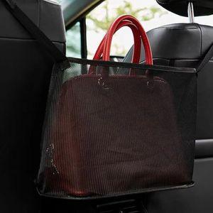 Örgü Bezler Saklama Çantası Araba Sandalye Net Cepler Retiküler Kılıflar Reds Siyah Kare Çok Fonksiyonları Popüler 7 5KN L2