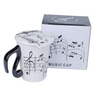 Musical Note Ceramic Coffee Mugs Tea Cups Travel Mug With Lid