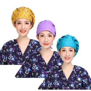 3pcs Womens Adjustable Bouffant Cap Broadside Makeup Hat Working Hats Sweatband Value Set Multi Color Night Sleep Cap Cancer hat