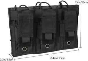 Autacc all'aperto doppia / triplo sacchetto, fucile da canguro e custodia a pistola Mag per M4 M16 AK AR G36 9mm .40 SW .45 ACP Maga