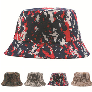 Designer Bucket Hats Military Camouflage Hat For Mens And Womens Summer Camo Cap Fishing Hats Sun Hat
