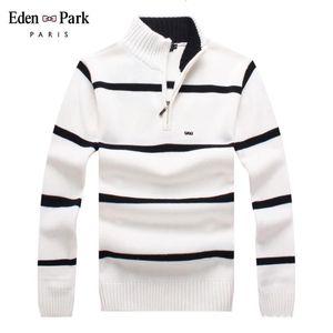 Park Marke Baumwollpullover Männer Eden Casual Pullover Pull Homme Gestrickte Pullover Halb Reißverschluss Turtheneck Knitwear -Collar 7122