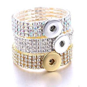 10pcs lot Mix 18mm Snap Jewelry Bracelets Snap Button Bracelet Handmade Beaded Bracelet Interchangeable Buttons Jewelry Q bbyZYo