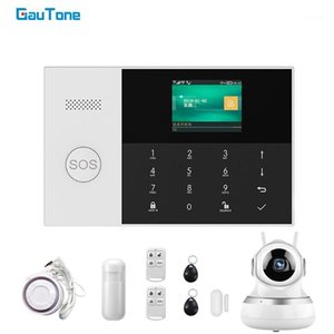 GauTone PG-105 WIFI GSM Alarm System 433MHz Home Security Alarm Smart Kits RFID PIR Motion Detector with IP Camera APP Control1