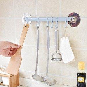 Auto adesivo 6 ganchos banheiro parede toalha titular pendurado nail-free cremalheira forte pasta ganchos ganchos chave kitchen stor jlllzw
