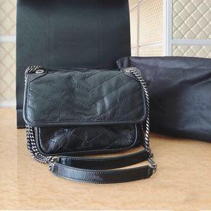 2021 Diseñador de lujo Bolso Bolso Bolso Bolsa Lady Bag Cadena Bolso Hombro Alta Calidad Postman Messenger Femenino Clásico Niki