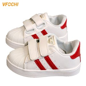 Vfochi nuevo para niños moda rayas suave niña casual lindo niños antideslizante plano unisex niñas niñas zapatos 201119