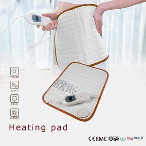 220V EU Plug 40*30CM Electric Heating Pad Auto Off for Menstrual Cramps Abdomen Waist Back Pain Relief 3 Heat Setting Controller
