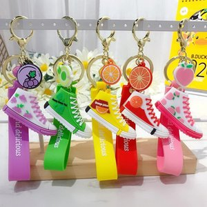 Summer Cute Canvas Shoes Keychain Bag Charm Woman Men Kids Gift Car Key Ring Holder Sports Sneaker Key Chain Accessories1