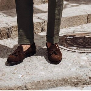 Fashion Tassel Men Loafers Shoes Gentleman Suede Casual Moccasin Gommino Shoes Men Fringed Dress Party Man Zapatos Hombre
