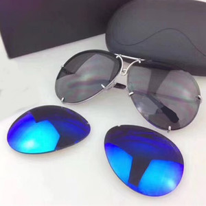 P8478 A Carerras Sunglasses Mirror Lens Full Frame UV Protection With Extra Lens Exchange Men Designer Top Quality Come With Case