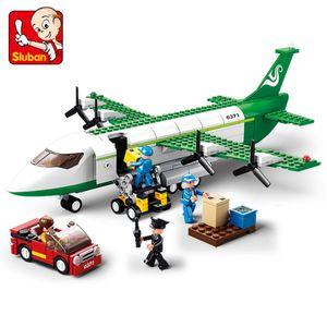 Sluban City Series Aéroport Aviation Aéroport d'avion Moderne Avion Avion Technique Technique Modèle Bricolage Bâtiment Blocs des Jouets pour enfants Enfants C0119