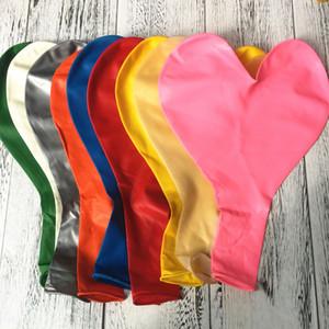 36 pouces épaissir le ballon en forme de coeur grand de la garçon de mariée de mariage de mariage décoration amour latex ballons de la Saint-Valentin ballon kkf3808