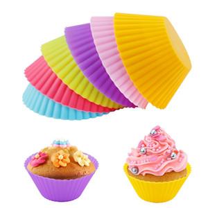 Pastel de silicona Muffin Cupcake Cup Casta Molde Molde Molde Casa Mesa Molde Bandee Banear Jumbo, Alta Calidad, Envío gratis GWA2443