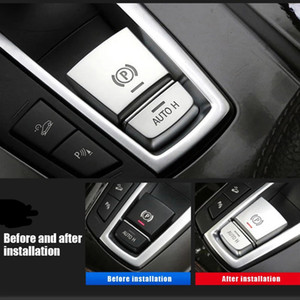 BMW 전자 핸드 브레이크 장식 커버 5 시리즈 7 시리즈 x3 x4 x6 x5 인테리어 수정 된 버튼 스쿼린 자동차 스티커