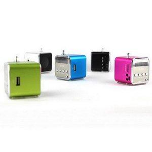 Mini Tarjeta portátil Micro Tarjeta USB Altavoz de disco MP3 Música MP3 Reproductor de MP3 Amplificador Estéreo FM Antena Radio con Multi-Color
