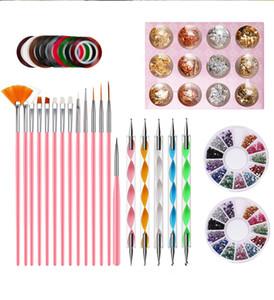NAK001 Professional Nail Tool Set Set per unghie Penna Penna Penna Penna Penna per nail art Rhinestone Gioielli Acrilico Nastro manicure