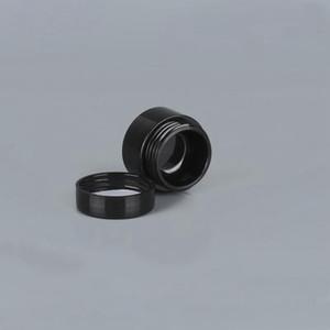 Schwarz leer 5 Gramm 5 ml Plastiktopf-Gläser Kosmetische Probe leerer Behälter Schraubdeckeldeckel für Make-up-Lidschatten-Nägel-Pulver RRD3053